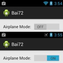 màn hình tắt và bật airplane mode